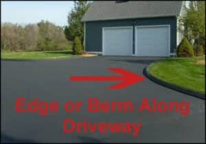 berm-or-edge-along-driveway for driveway cost calculator