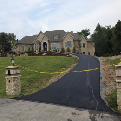 new-home-construction-paving-driveway-dillsburg-pa