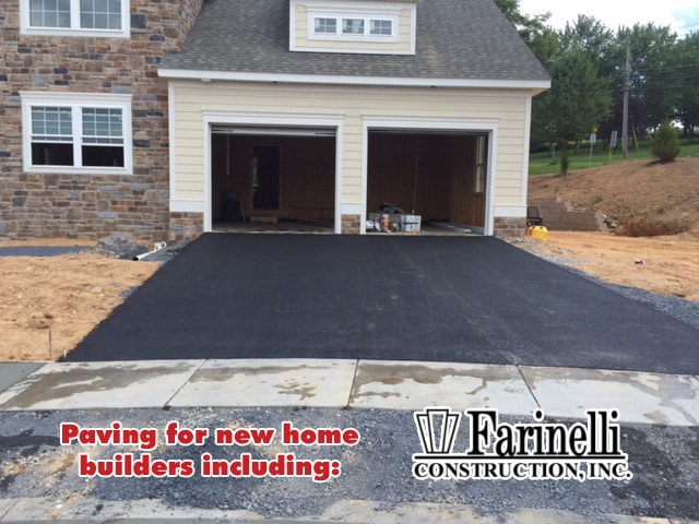 Paving for local home builder in harrisburg camp hill for Home builders in central pa