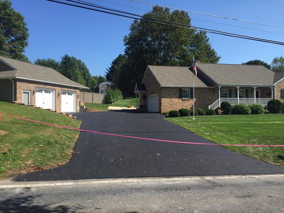 Some driveways we did in  Dillsburg and Lisburn Time is running out get on the schedule before we are booked for the year