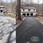before and after driveway repair services