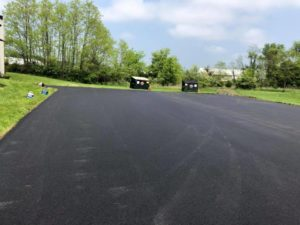 image of parking lot resurfacing