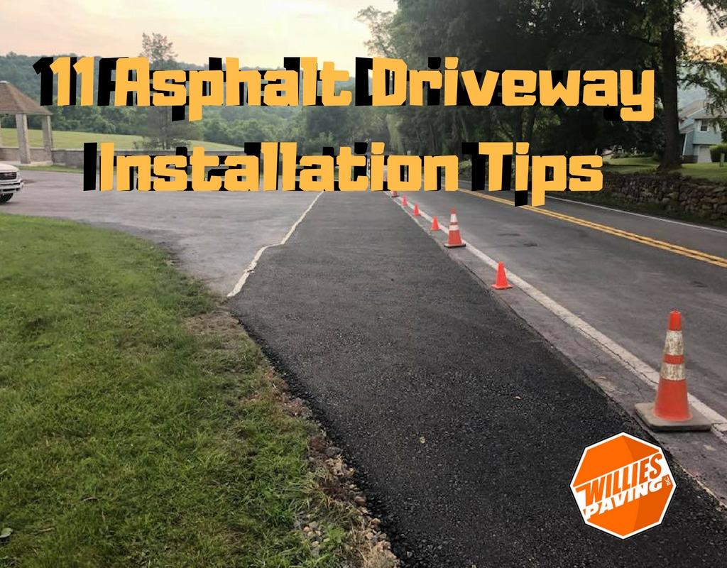 image of asphalt driveway installation