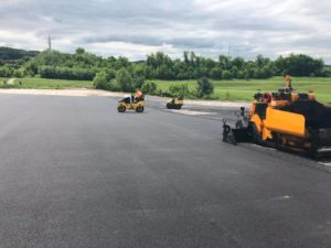 willies asphalt paving vehicles used at Bridgewater Golf Course York