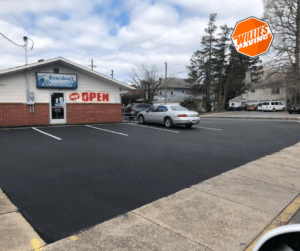 parking lot pavement line striping