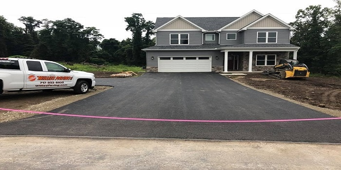 Lancaster paving and tar and chip driveway