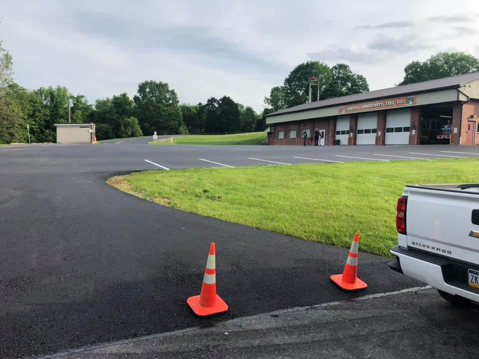 lisburn fire house parking lot paving