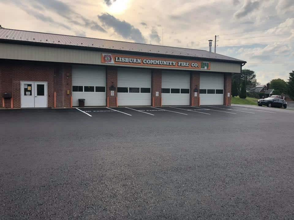 parking lot paving fire house
