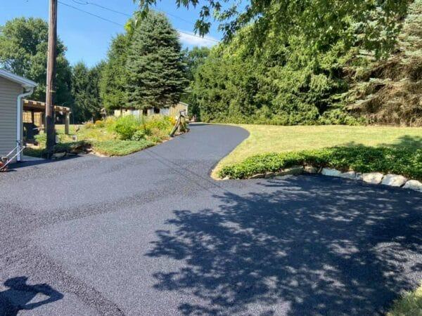Can you put asphalt over dirt